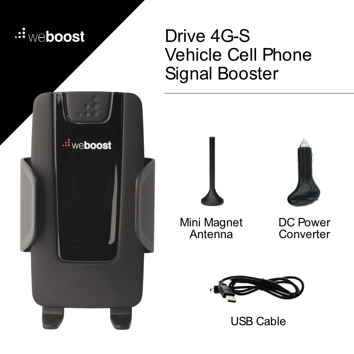 Wilson Electronics DT Cell Phone Signal Booster for Small Home or Office Retail Packaging Gray