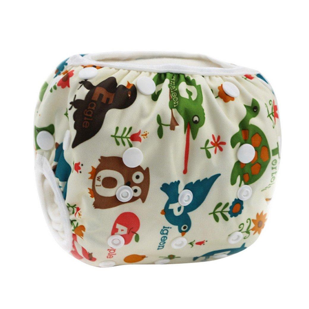 HAPPY CHERRY Maillot de bain Couche Lavable Natation Couches Piscine Sous la Mer pour Bébé Fille Garçon Couches-Culottes Anti-fuite Imperméable étanche Animal