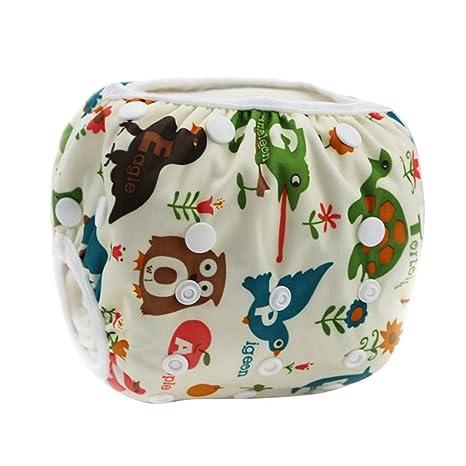 73ef77aa0 Happy Cherry Ajustable Bañador Pañal de Tela Reutilizable Lavable Diaper  Para Bebé Unisex - Animales Salvajes