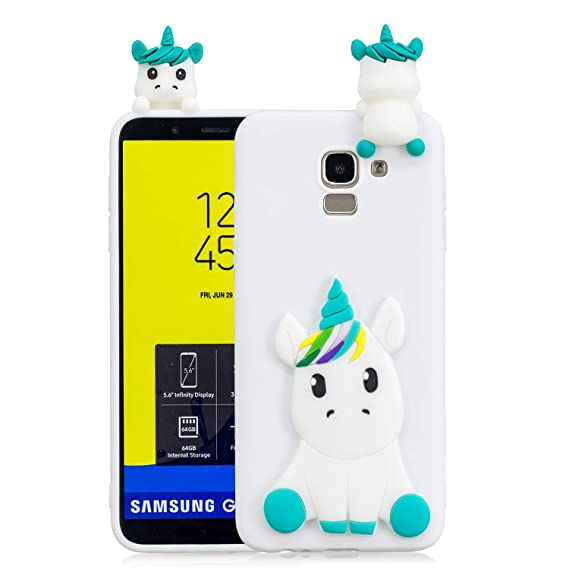 100% authentic e6319 6b5b0 Amazon.com: Galaxy J6 2018 Case,DAMONDY 3D Cute Unicorn Cartoon Soft ...