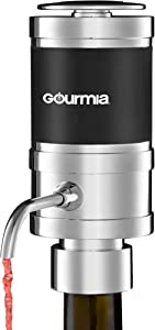 Gourmia GWA9985 Electric Wine Aerator and Dispenser - Quickly Oxidizes, Decants and Pours Red and White Wine - Fits Most Bottles – Battery Operated - One Touch Control