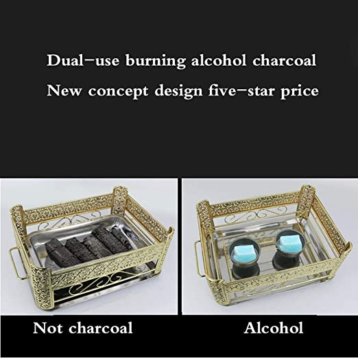Amazon.com: ZCF Stainless Steel Grilled Fish Stove Commercial Carbon Oven Zhuge Grilled Fish Plate Rectangular Home Restaurant Seafood Coffee Tray (Color ...