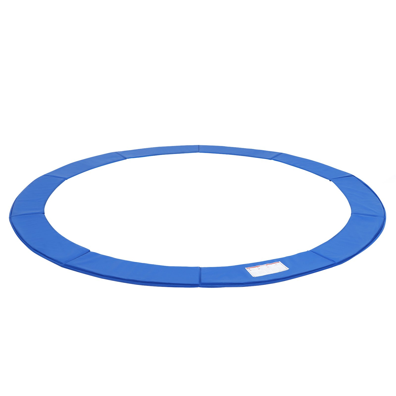 SONGMICS 12FT Replacement Trampoline Safety Pad, Waterproof Surround Spring Cover, Round Foam Pad Blue USTP12FT