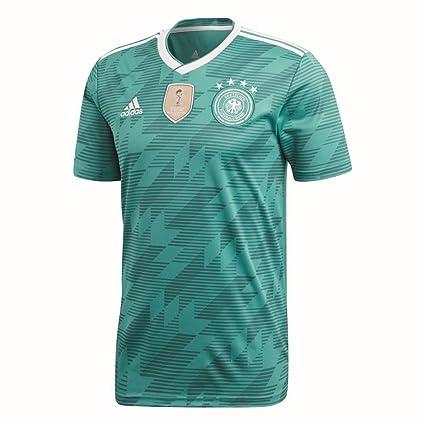 adidas Away Jersey 2018 Camiseta, Alemania, Hombre, Verde/Blanco, XS