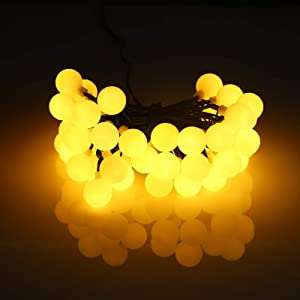 Bolylight 50 LED Globe Fairy String Lights, Warm and Romantic Ball String Lights Plug in, Decor for Christmas Tree, Indoor, Outdoor, Party, Wedding, Holiday Warm White