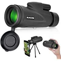 Monocular Telescope with Low Night Vision – Evershop High Power Monoculars for Adults and Kids with Tripod and…