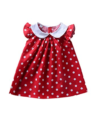 c8cbedb7b Amazon.com  Babywow Infant Baby Girls Polka Dot Printed Ruffled ...