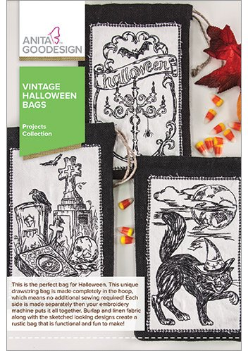 Anita Goodesign Embroidery Designs Vintage Halloween Bags