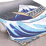 TENALY Tapestry Wall Hanging, Great Wave Kanagawa