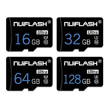 y2y3zfal NUIFLASH 4/8/16/32/64 / 128GB Tarjeta De Memoria TF De Datos C10 De Alta Velocidad para Tableta De Teléfono 8 GB