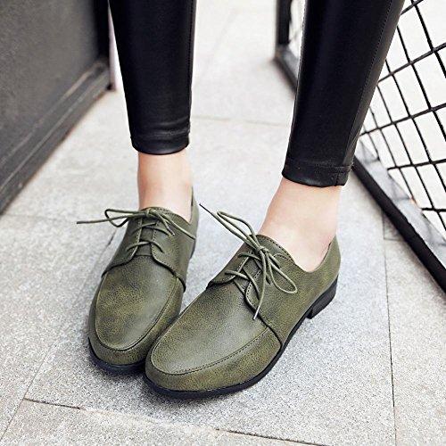 Latasa Oxford Shoes Dark Lace Green Women's up IFqRtxKrwI