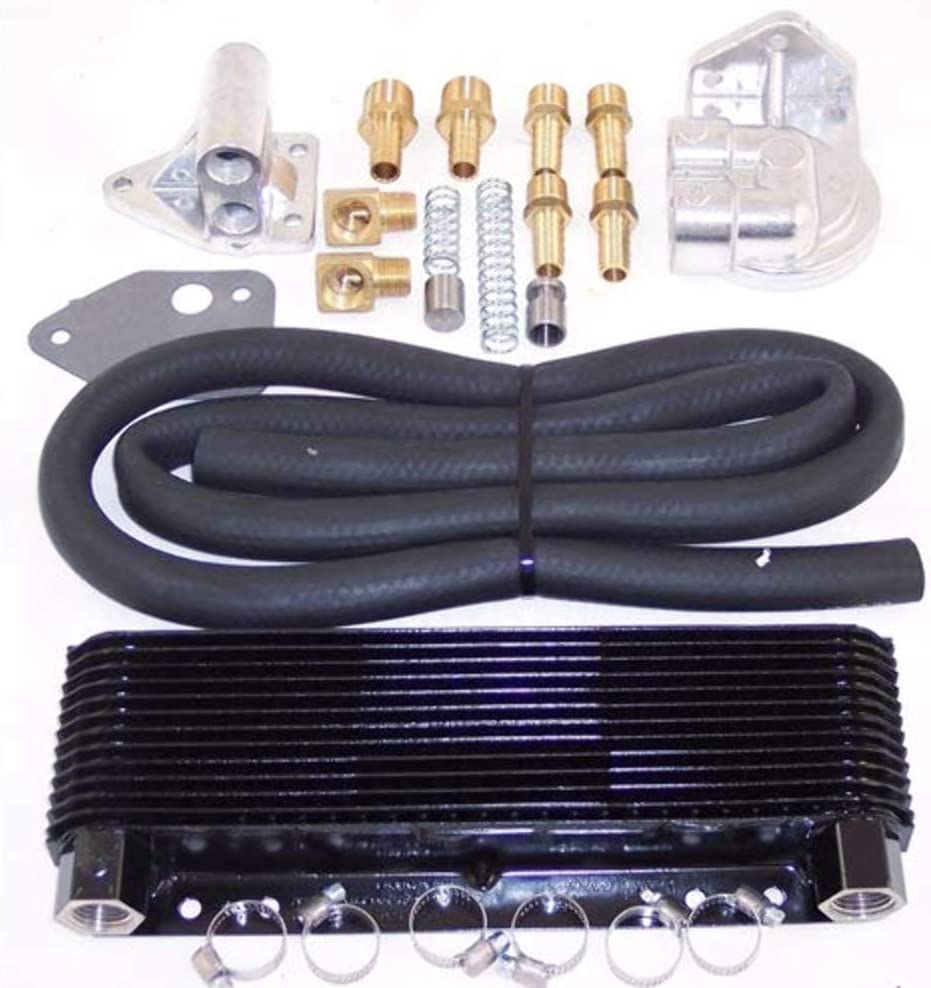 EMPI Competition Oil Cooler and Fan Kit 72 Plate Cooler EMPI 00-9292-0