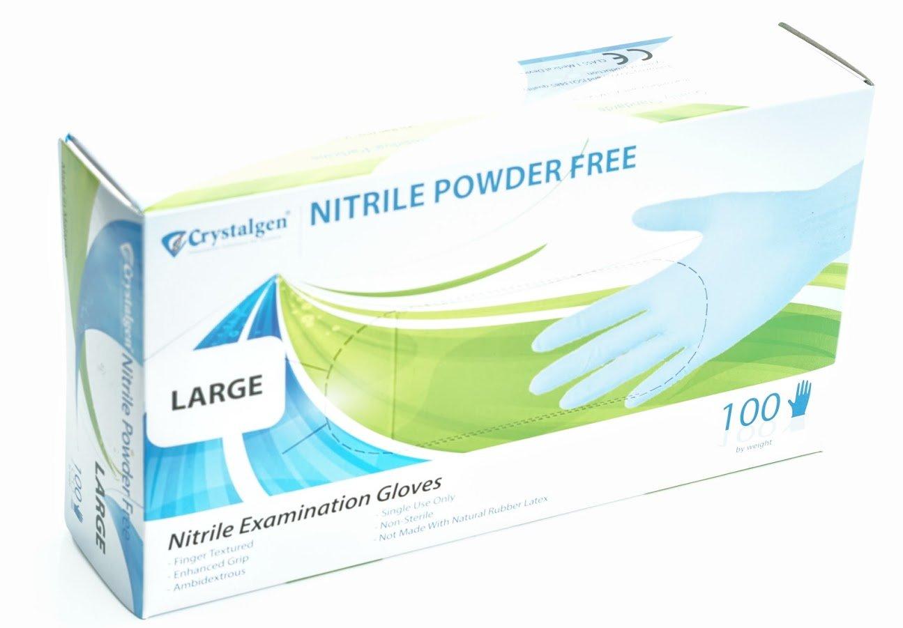 Crystalgen - Powder Free Nitrile Gloves