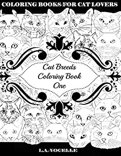 Cat Breeds Coloring Book One Volume 1