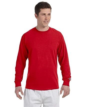 Champion T Homme Shirt longues à Small manches Rouge Rouge BBxHqr