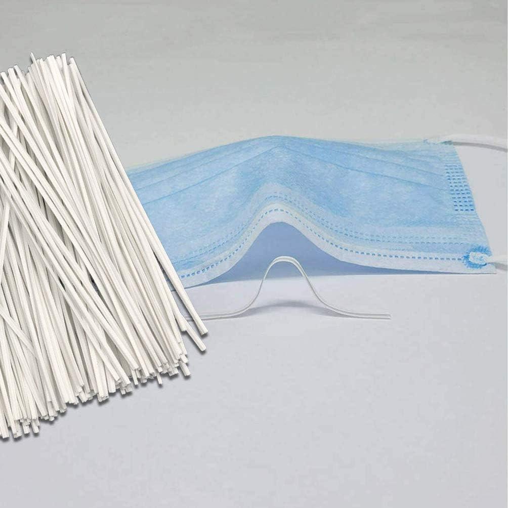 Adjustable Eco-Friendly Material DIY Fixed Band Nose Bridge Strips Metal Nose Bridge Strip for Facial Shield Cover Making Supplies 100 PCS Nose Bridge Wire