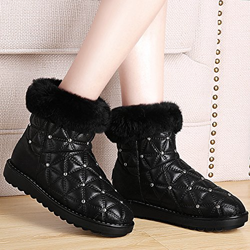 coreano cotone scarpe femminile black tutti corti neve corrispondono tubicino GTVERNH di studenti stivali e la stivali q7I6H6