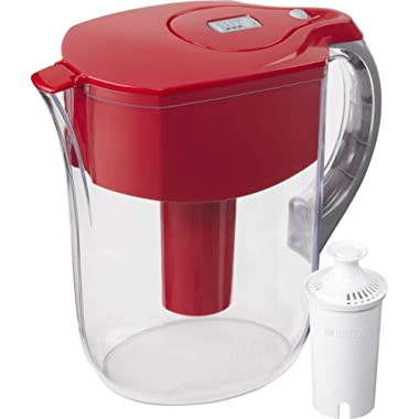 Brita 35941 Grand Large 10 Cup Water Pitcher, Red