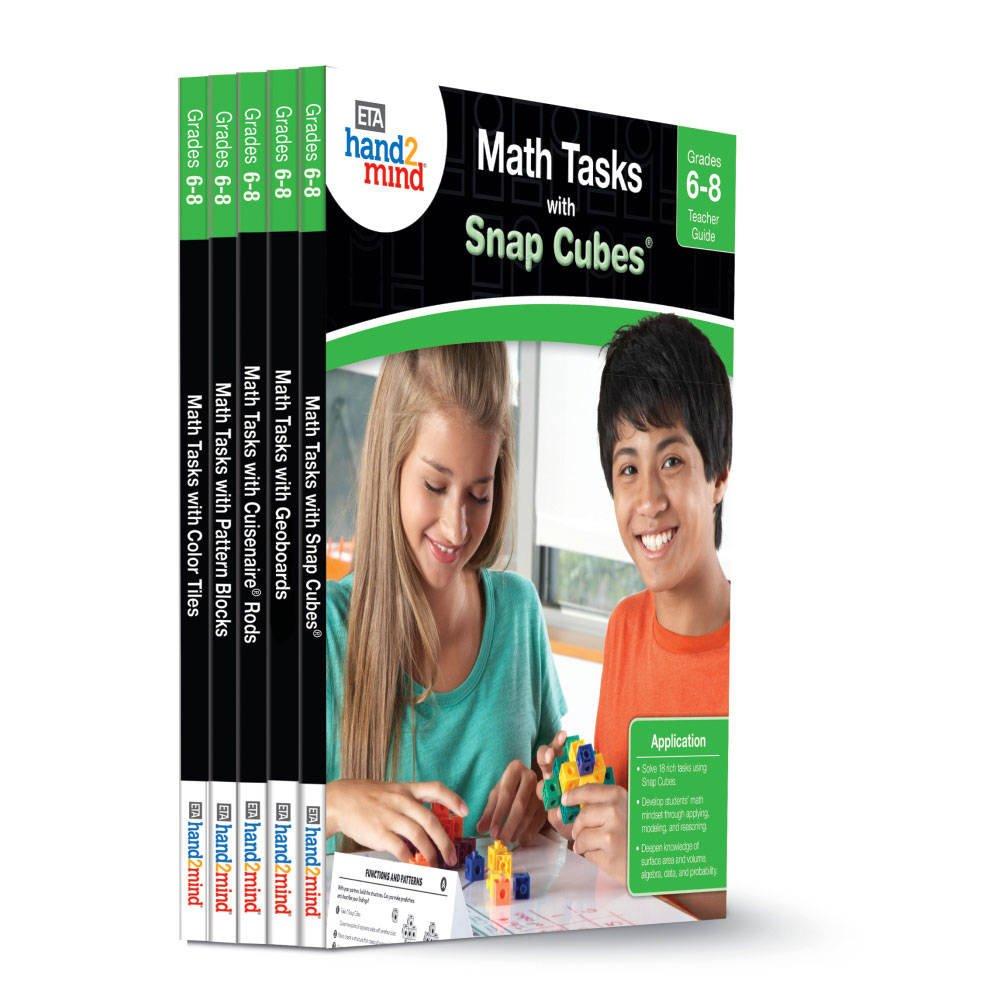 ETA hand2mind Math Tasks Library Books, Grades 6-8