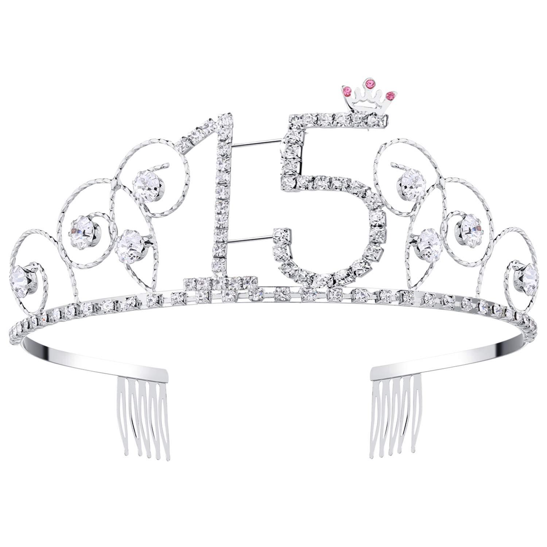 Babeyond Couronne Anniversaire 20 Ans Bandeau Anniversaire Bling Cristal Tiara Couronne Joyeux Anniversaire 16/18/20/21/30/40/50/60/70/80/90 Ans WH-tiara-20birth-1