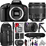 Canon EOS Rebel T7i DSLR Camera with 18-55mm Lens w Advanced Photo and Travel Bundle