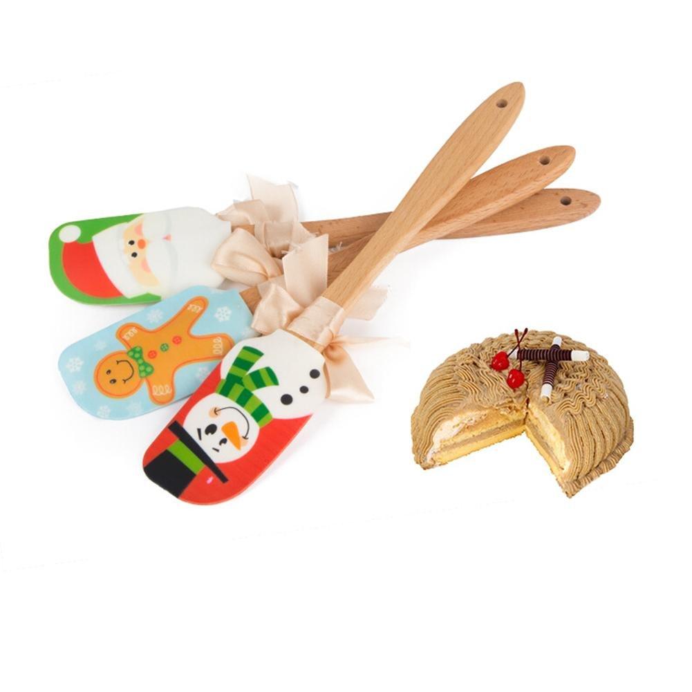 3 Stücke Silikon Spachtel Set Weihnachten Muster Antihaft Kuchen ...