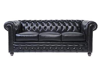 Original Chesterfield Sofa 3 Sitzer Vollstandig Handgewaschenes
