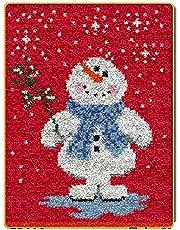 Modern Simplicity Latch Hook Kits,Christmas Handicraft Latch Hook Kit, DIY Rug Crochet Yarn Unfinished Crocheting Rug Yarn Cushion Embroidery Carpet Well-Designed