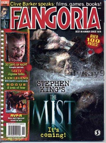 Fangoria Magazine 268 THE MIST Clive Barker AVP-R Rogue I AM LEGEND 30 Days of Night TOBIN BELL November 2007 - 2 Predator Review