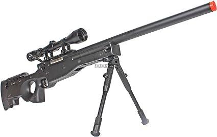 Amazon Com Bbtac Bt59 Airsoft Sniper Rifle Bolt Action Type 96 Airsoft Gun With 3x Rifle Scope And Aluminum Bipod Airsoft Gun Sports Outdoors