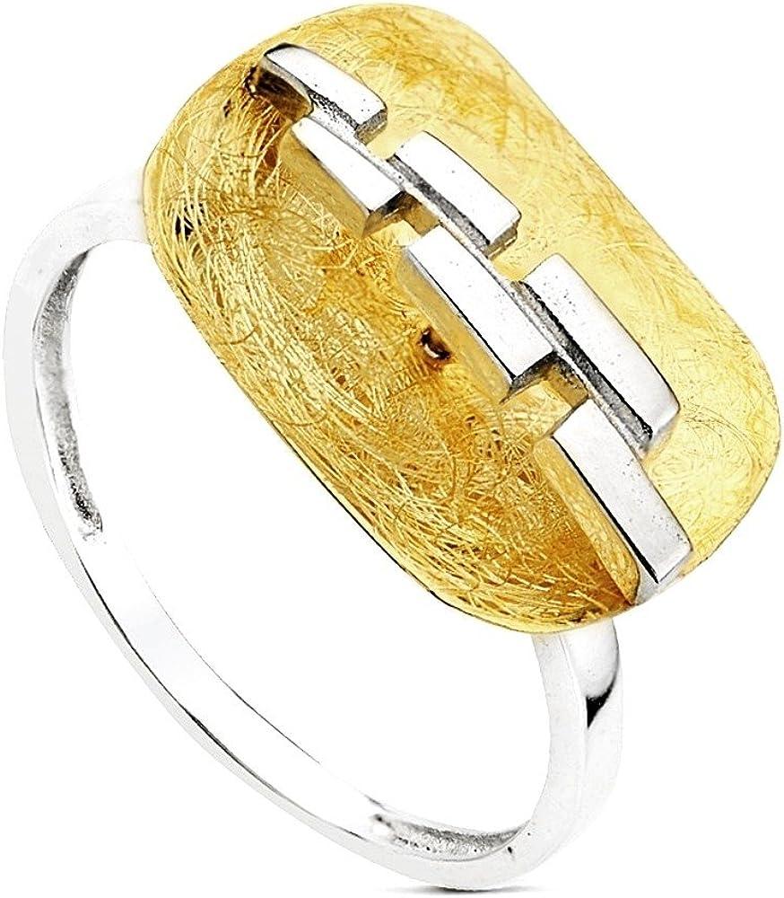 Sortija oro 18k bicolor lanzadera [AB3096]