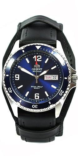Orient 5 Deep Professional Diver Mako II Reloj de Buceo automático Día Fecha piel: Amazon.es: Relojes