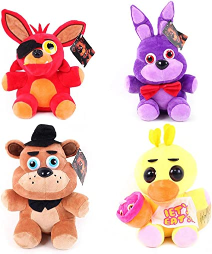Koala Stuffed Animals Mini, Amazon Com Five Nights At Freddy S Plush 15cm 18cm Doll Stuffed Animals Soft Figure Anime Collection Toy 4pc Set Toys Games