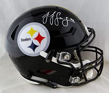 7589bc39e4f JuJu Smith-Schuster Signed Steelers F/S SpeedFlex Authentic Helmet- Beckett  Auth