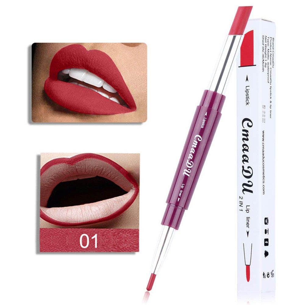 Sumcreat 6 Color Lipliner Lipstick Pencil Makeup Tools, Waterproof Non-marking Matt Velvet Lipstick Pen Sumcreat Lipstick
