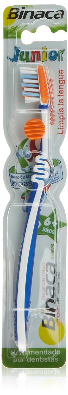 Binaca - Cepillo dental junior (6+años) (surtido: colores y modelos aleatorios): Amazon.es: Belleza