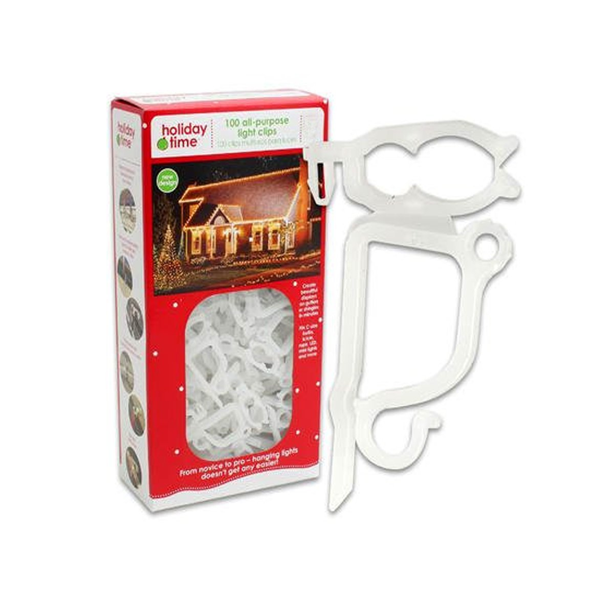 Made in USA Holiday Time 100 All-Purpose Light Clips (4)