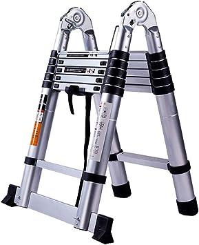 Extensibles Escaleras telescópicas - Un marco de aluminio que extiende la plegable para la oficina del loft Trabajo en el techo bricolaje Constructor (Size : 2.8m+2.8m=straight 5.6m): Amazon.es: Bricolaje y herramientas