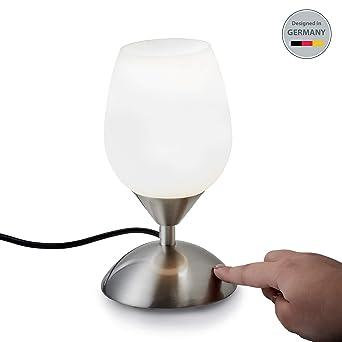 B K Licht Lampe De Chevet Tactile 3 Intensites Lampe De Table Avec