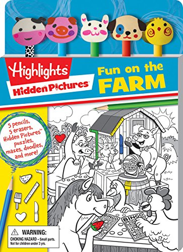 Highlights: Hidden Pictures: Fun on the Farm (Pencil Toppers)