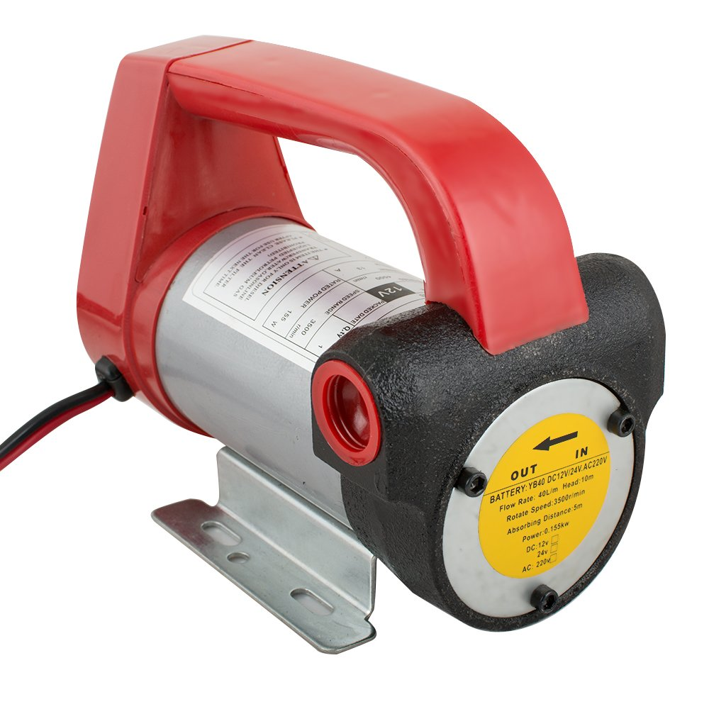 vinmax 12V Fuel Oil Transfer Pump Diesel Biodiesel Kerosene Transfer Extractor Pump Suction Lift