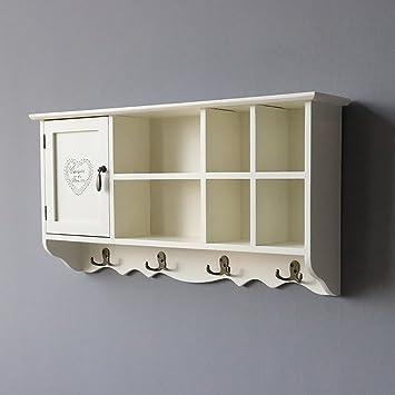 Amazon.de: BGCG Wandschrank, Locker, mit Haken Wandschrank, Balkon ...