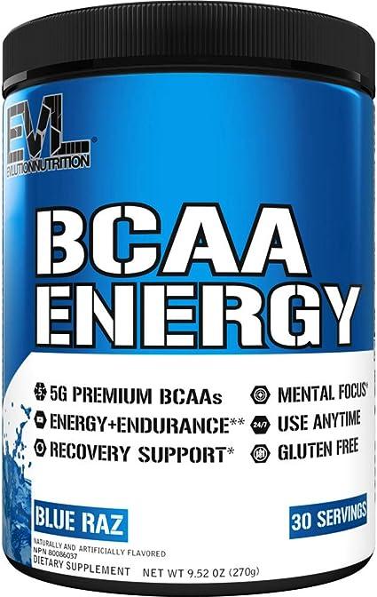 Evlution Nutrition BCAA ENERGY - Suplemento En Polvo De Aminoácidos Para Aumento Muscular Alto Rendimiento Resistencia, Contiene 30 Tomas, Sabor ...