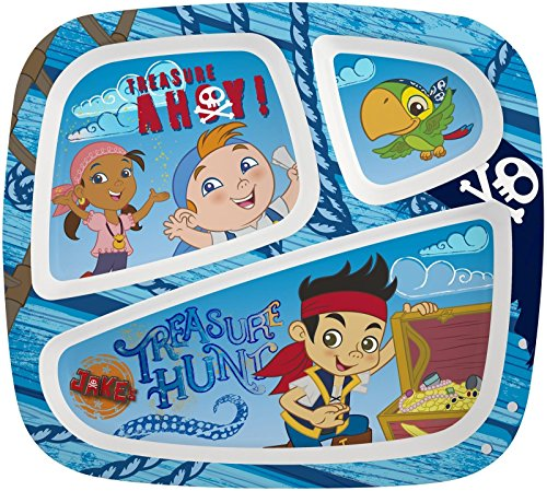 Zak! Designs Three-Section Plate - Jake and The Neverland Pirates ()