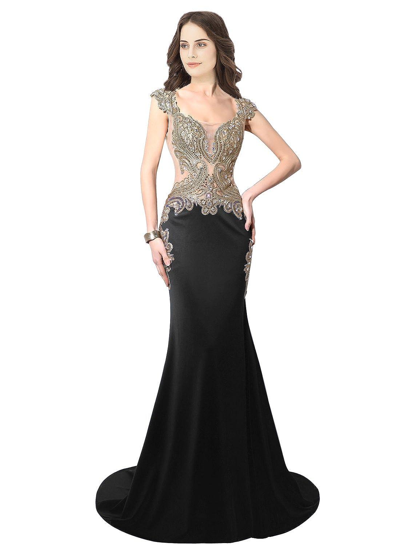 003black Sarahbridal Women's Mermaid Evening Ball Dress 2019 Formal Long Prom Gowns