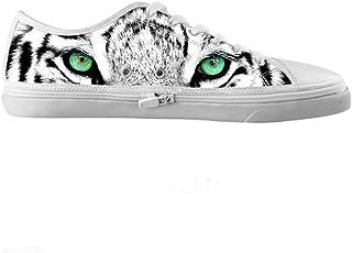 CHEESE Su misura tigre Originals Scarpe tela di alta moda degli uomini moda su misura di qualit¨¤ delle scarpe da tennis, US10/EUR43