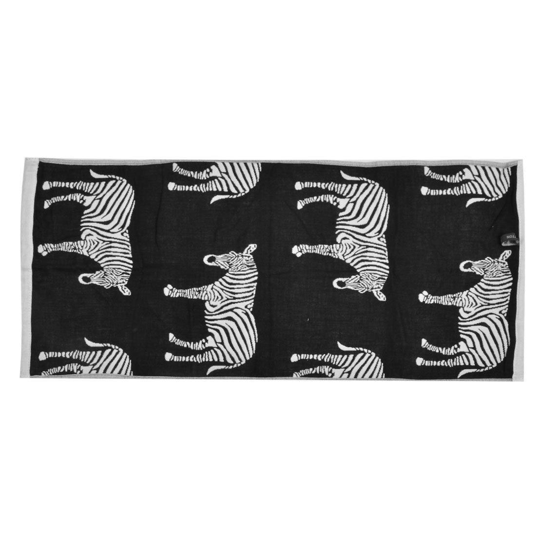 Amazon.com: eDealMax Mezclas del algodón patrón de cebra Inicio absorbencia Clean Lavado toalla de baño Toallita: Home & Kitchen