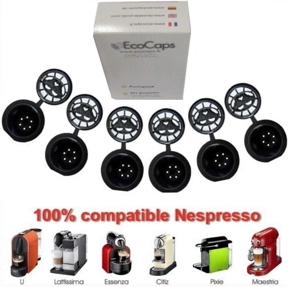 Coffee2u recargable reutilizable cápsulas de café para Nespresso ...