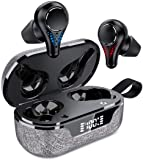 True Wireless Earbuds, Waterproof TWS Bluetooth 5.0 Headphones in Ear with Charging Case, Hands-Free Headset with Noise…