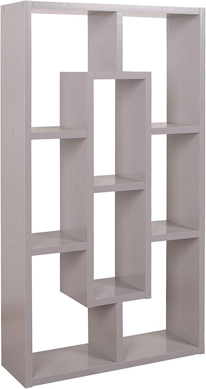 Mini Eck-Regal Holz Platin Grau 85x48x16 cm Schwebe-Regal RICOO WM050-PL Stand-Regal Wand B/ücher-Regal Schmal H/änge-Regal Wandregal